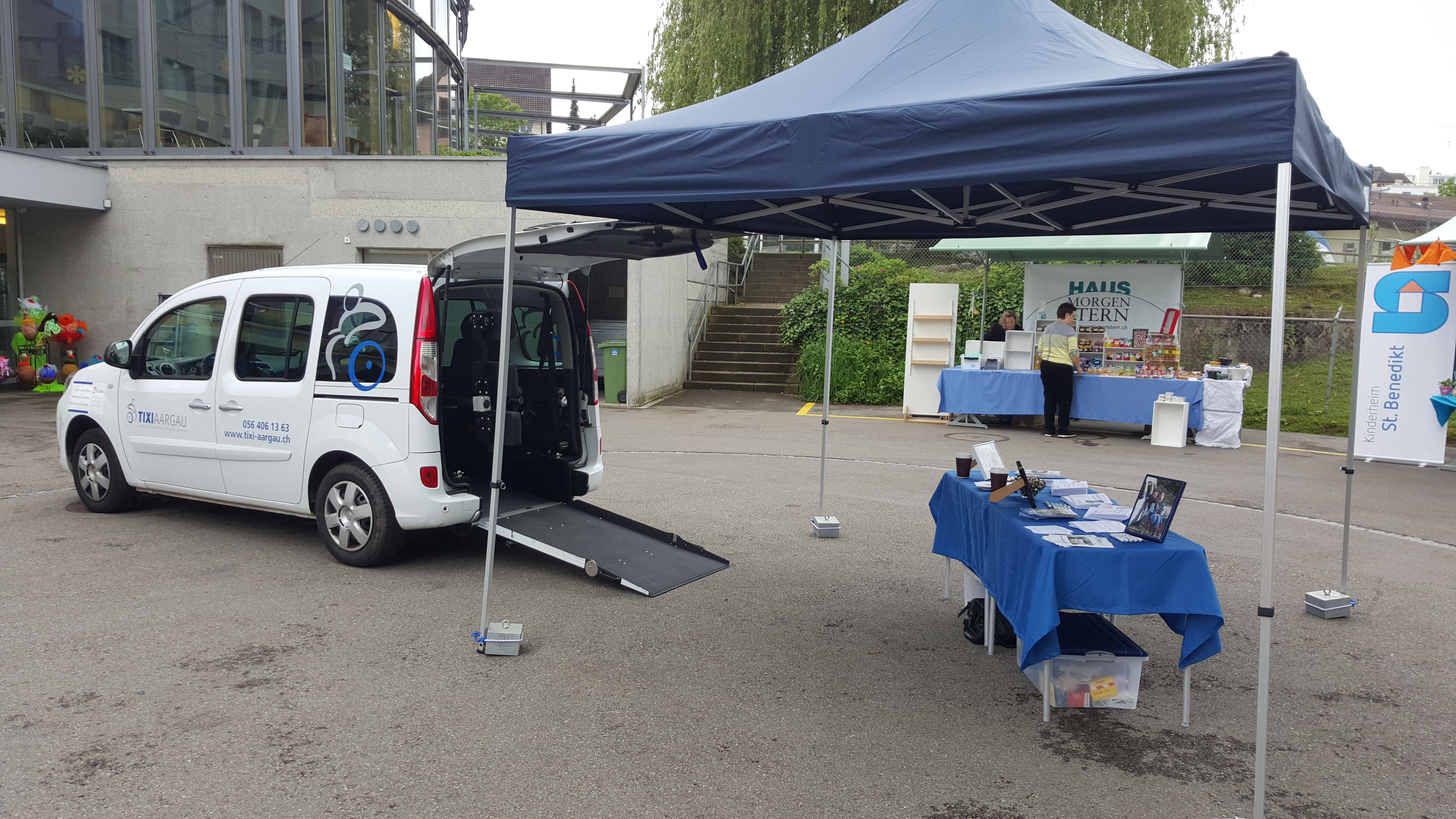 160604 Volksfest St. Josef Stiftung TIXI Stand